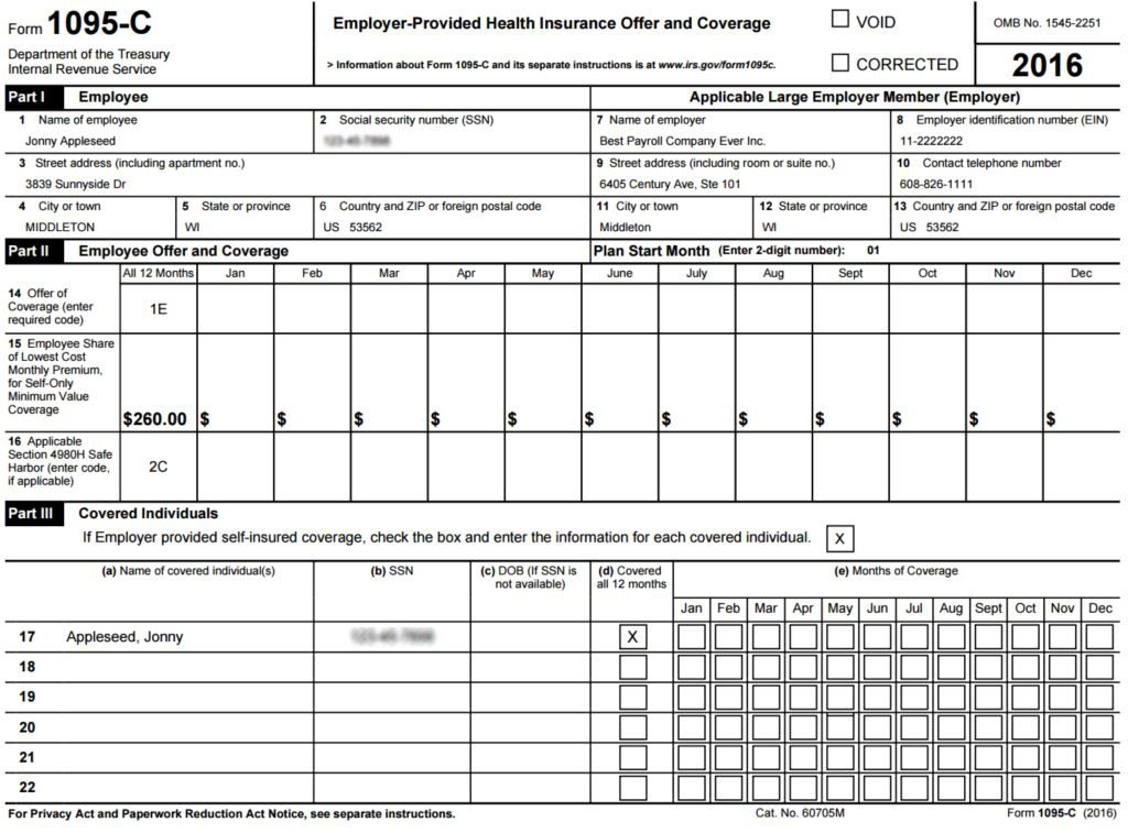 1095-C-sample-1024x757  C Form Completed Examples on examples for cobra, employee communication, instructions fill,