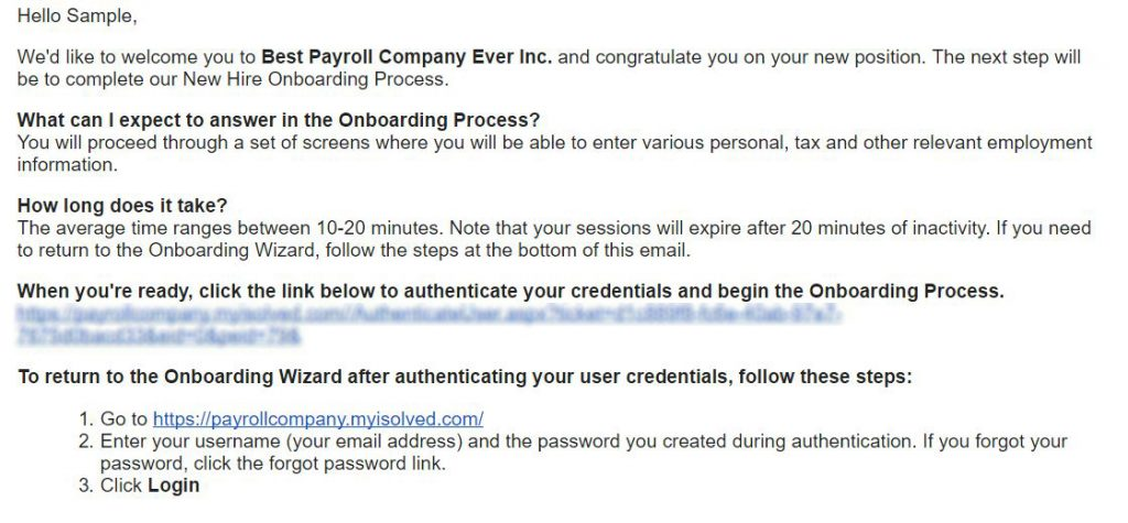 onboarding welcome email
